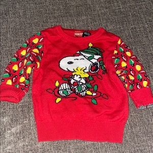 Snoopy Christmas sweater only worn once